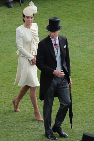 The Duke and Duchess of Cambridge (in Alexander McQueen)