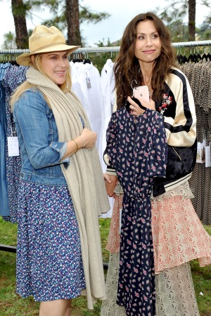 Designer Erica Nicotra O'Neill with Minnie Driver at the Lavina & Co launch.