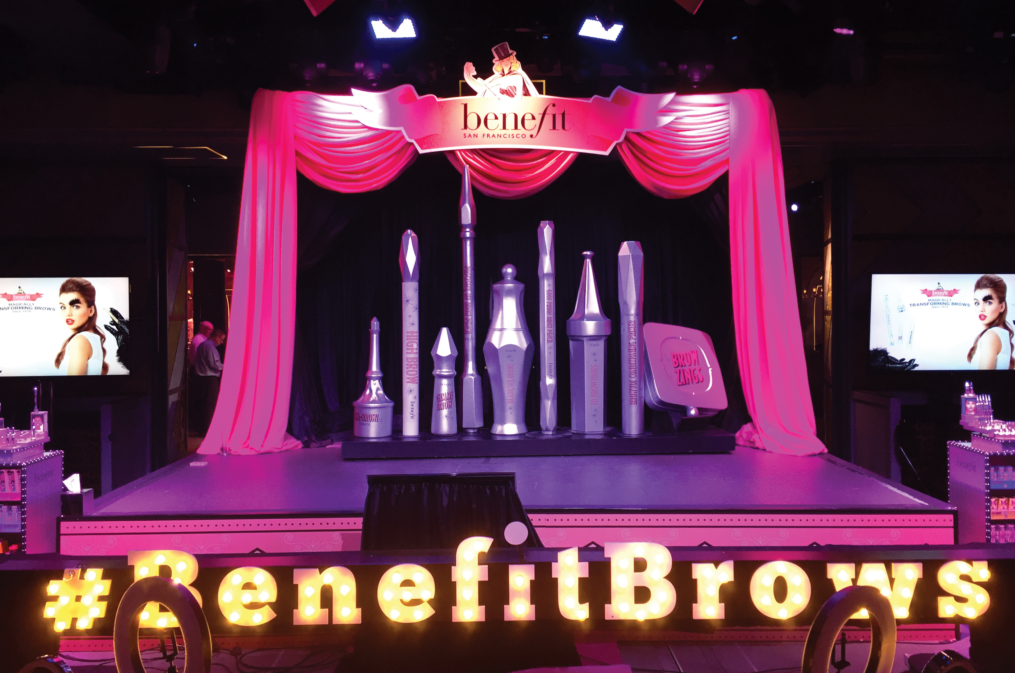 Benefit launch party in Las Vegas.
