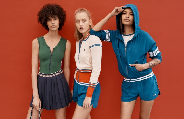 Looks from the Fila x Urban Outfitters Collection.
