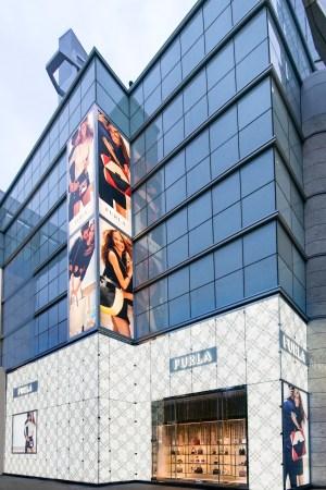 The Furla flagship on Shanghai's Nanjing West Road