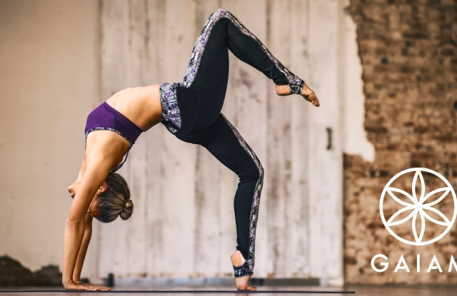 A look from Gaiam's yoga apparel line.