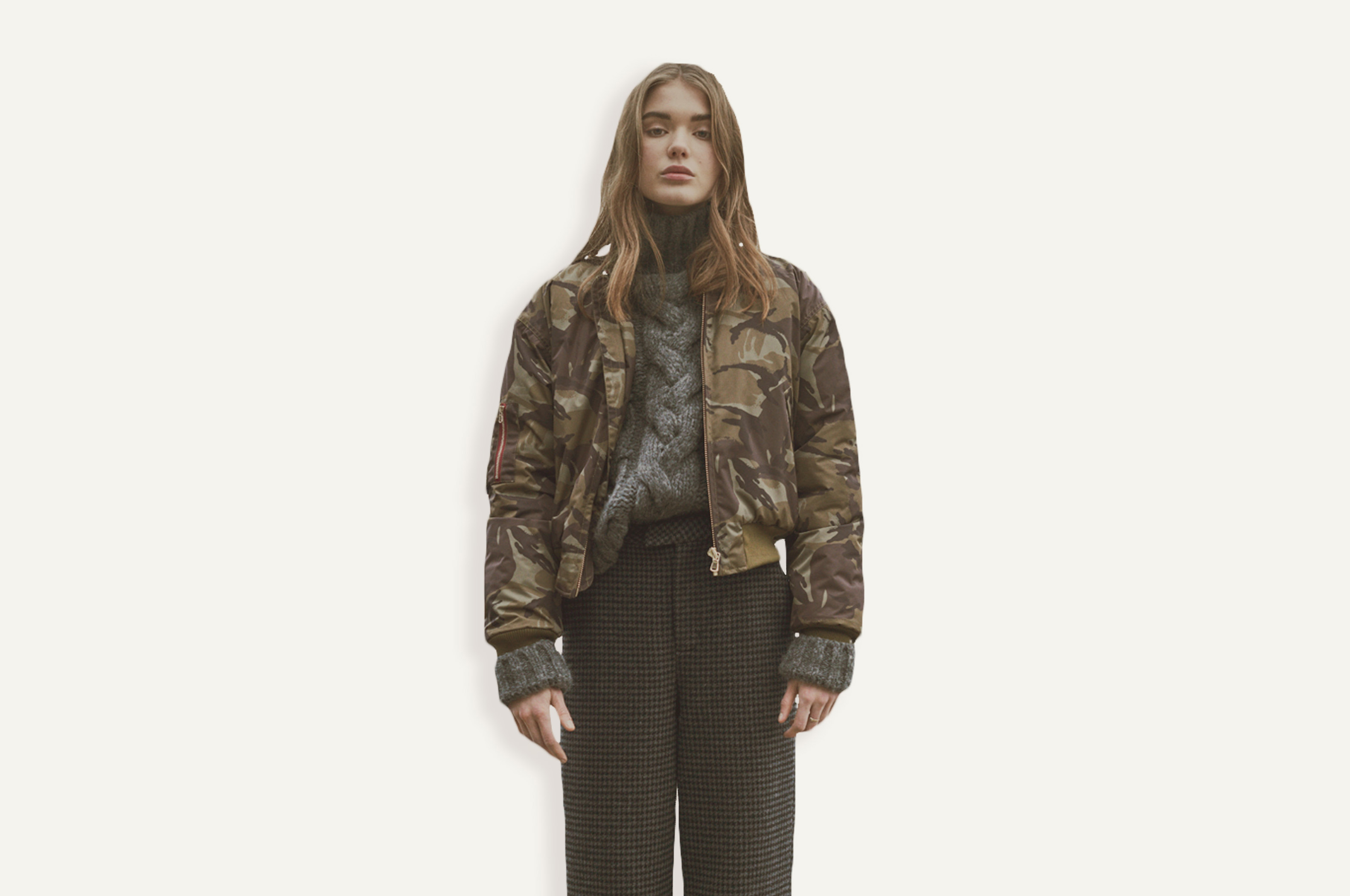 Looks from Ganni's new outerwear collection