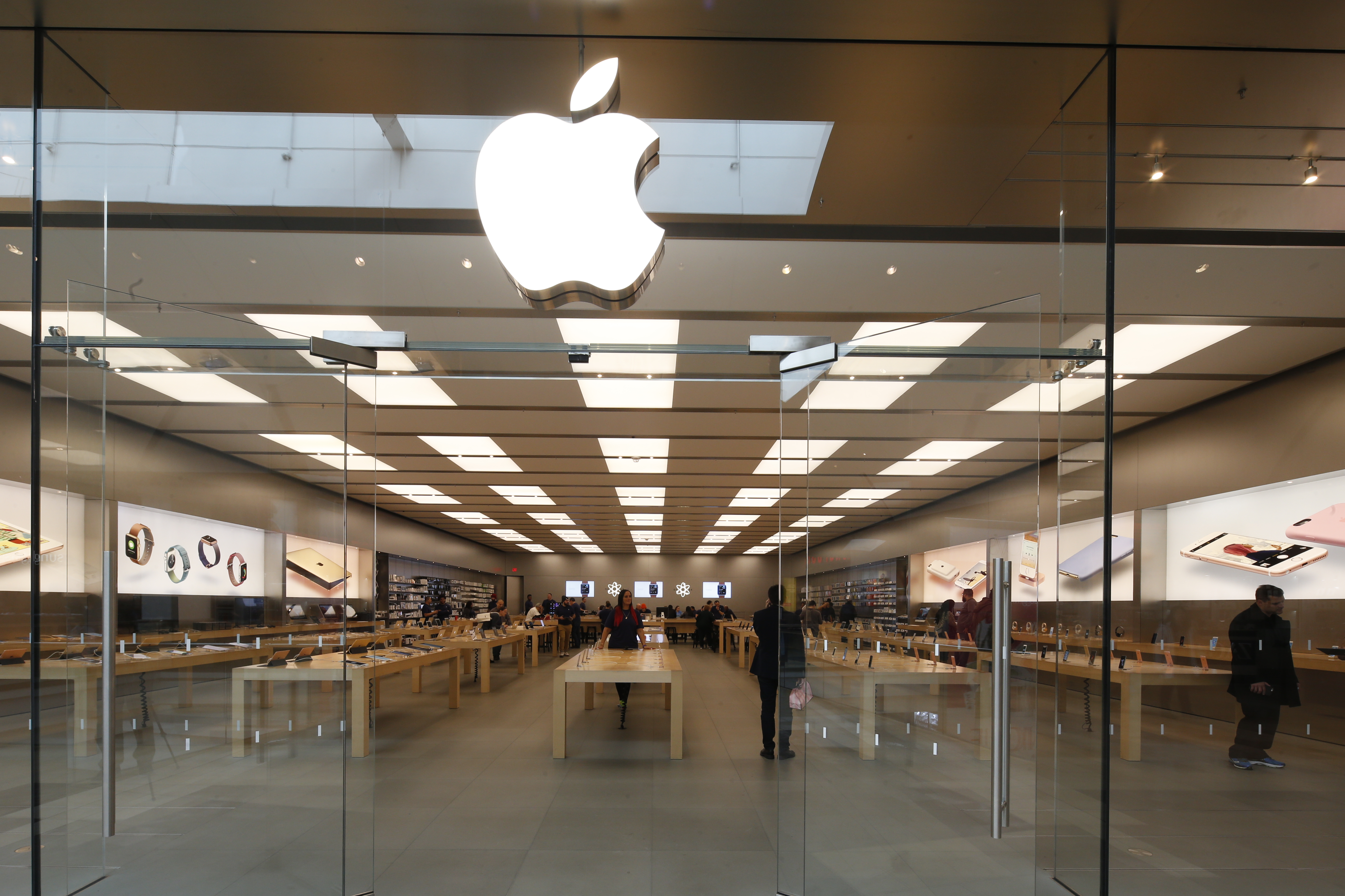 The Apple store at Garden State Plaza in Paramus, N.J.