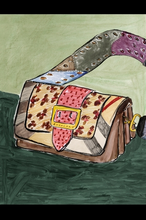 Illustration of The Patchwork by Luke Edward Hall for Burberry
