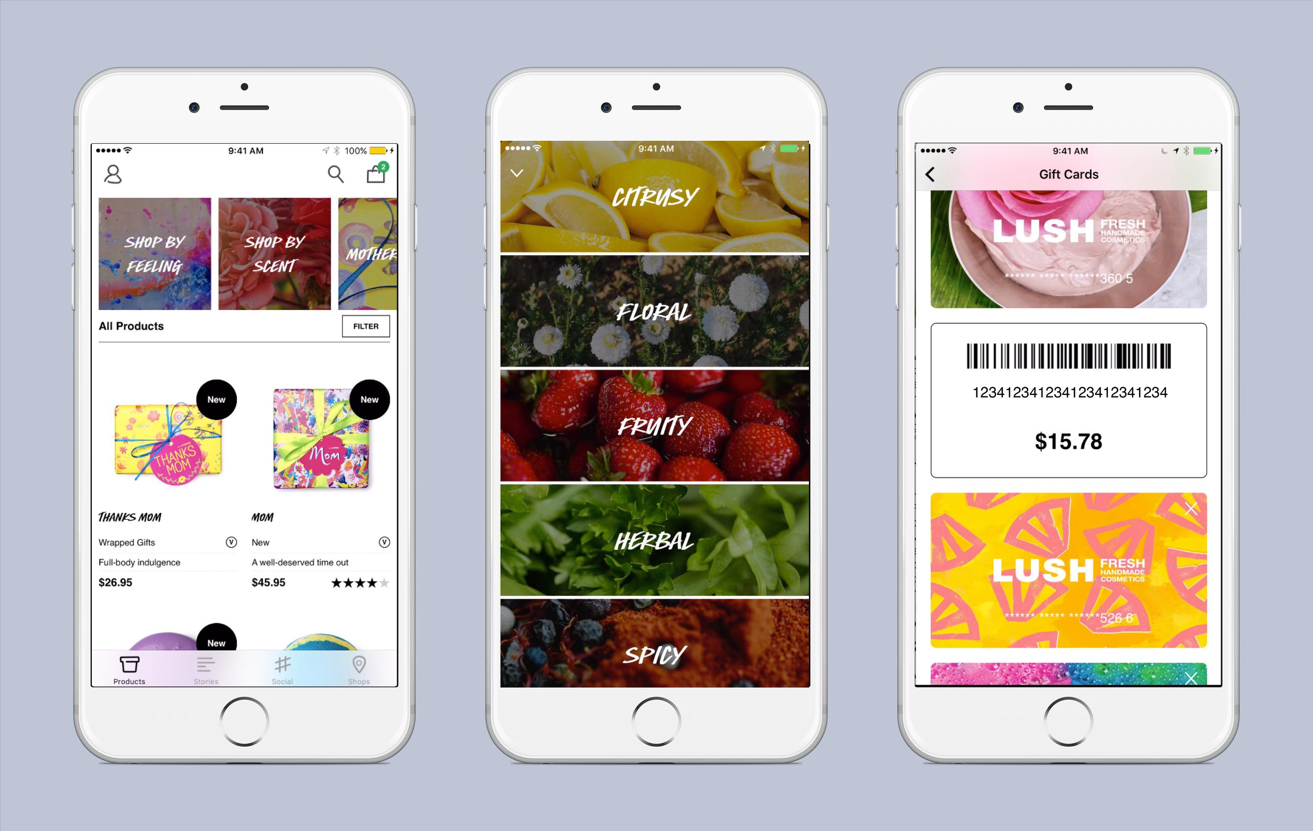 Lush app allows shopping by feeling and scent