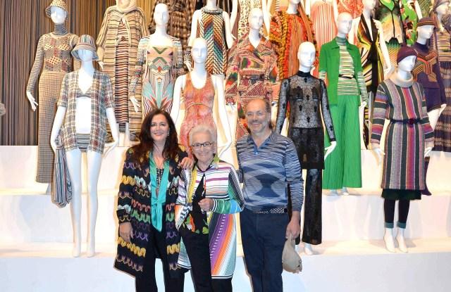 Angela, Rosita and Luca missoni Art Colour exhibit london