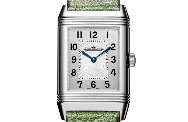 "The front of the ""Scarababe"" Jaeger-LeCoultre Reverso by Christian Louboutin"