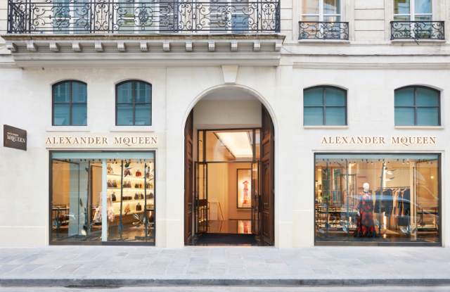 The Alexander McQueen storefront on Rue Saint-Honoré