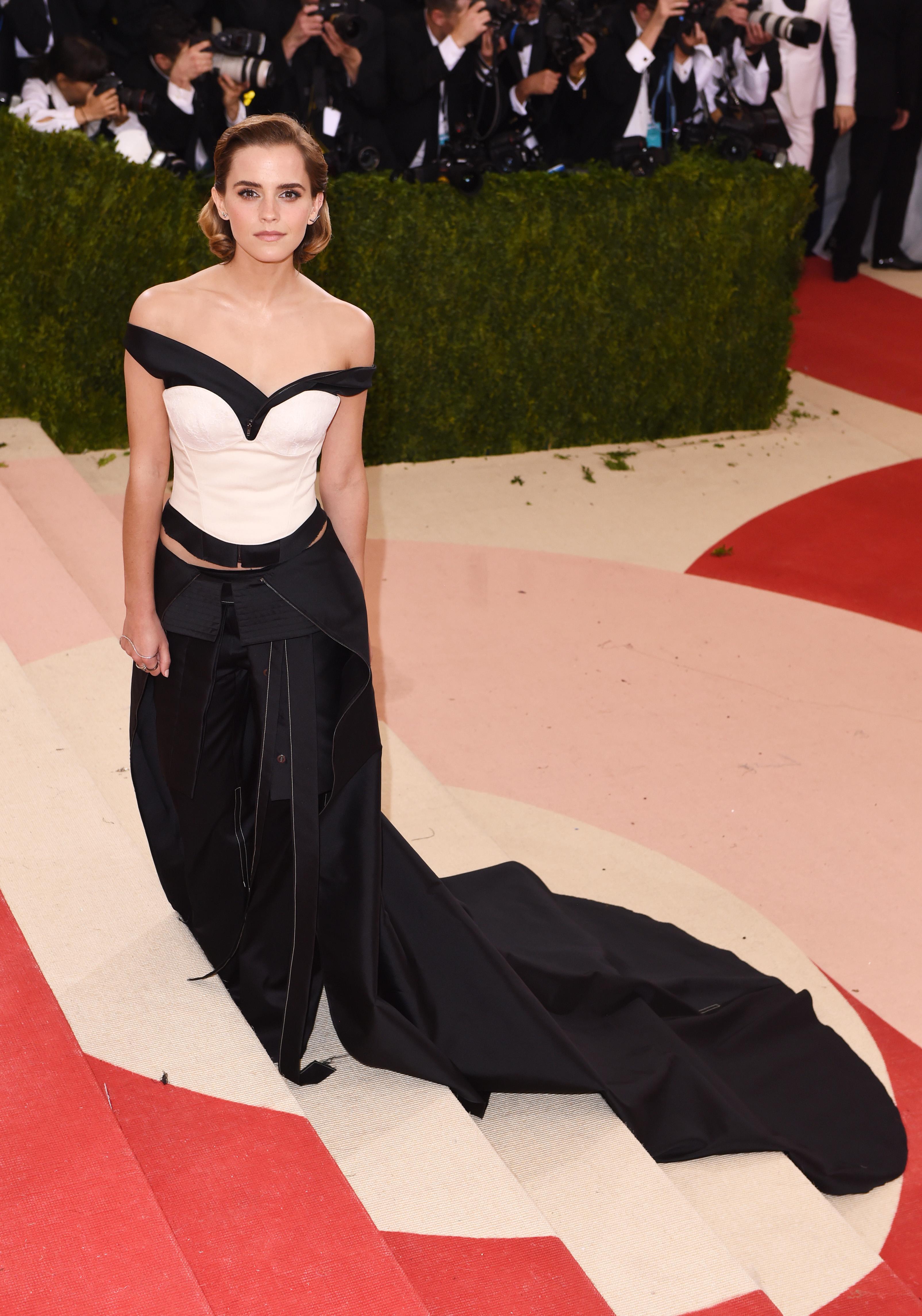 Emma Watson in Calvin Klein at met gala 2016