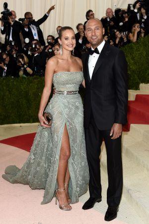 Hannah Davis and Derek Jeter at the Met Gala in May.