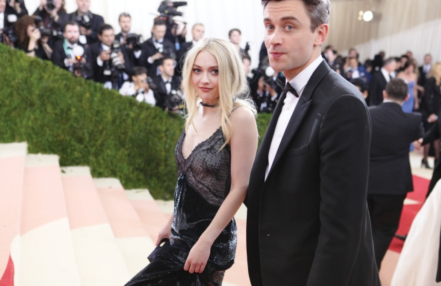 Dakota Fanning in Nina Ricci with Guillaume Henry.