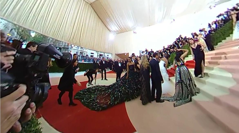 met gala red carpet video 360 degree virtual reality