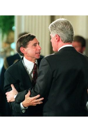 Mickey Kantor and Bill Clinton