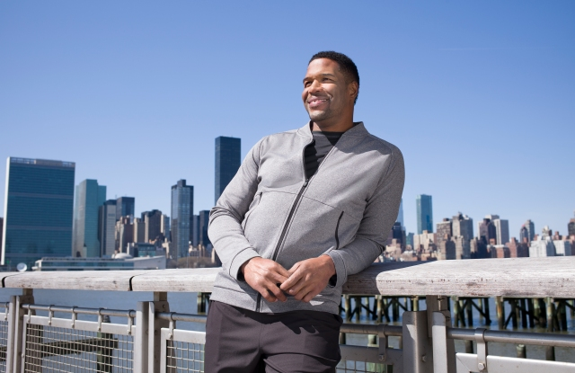 Michael Strahan wearing a look from line at J.C. Penney.