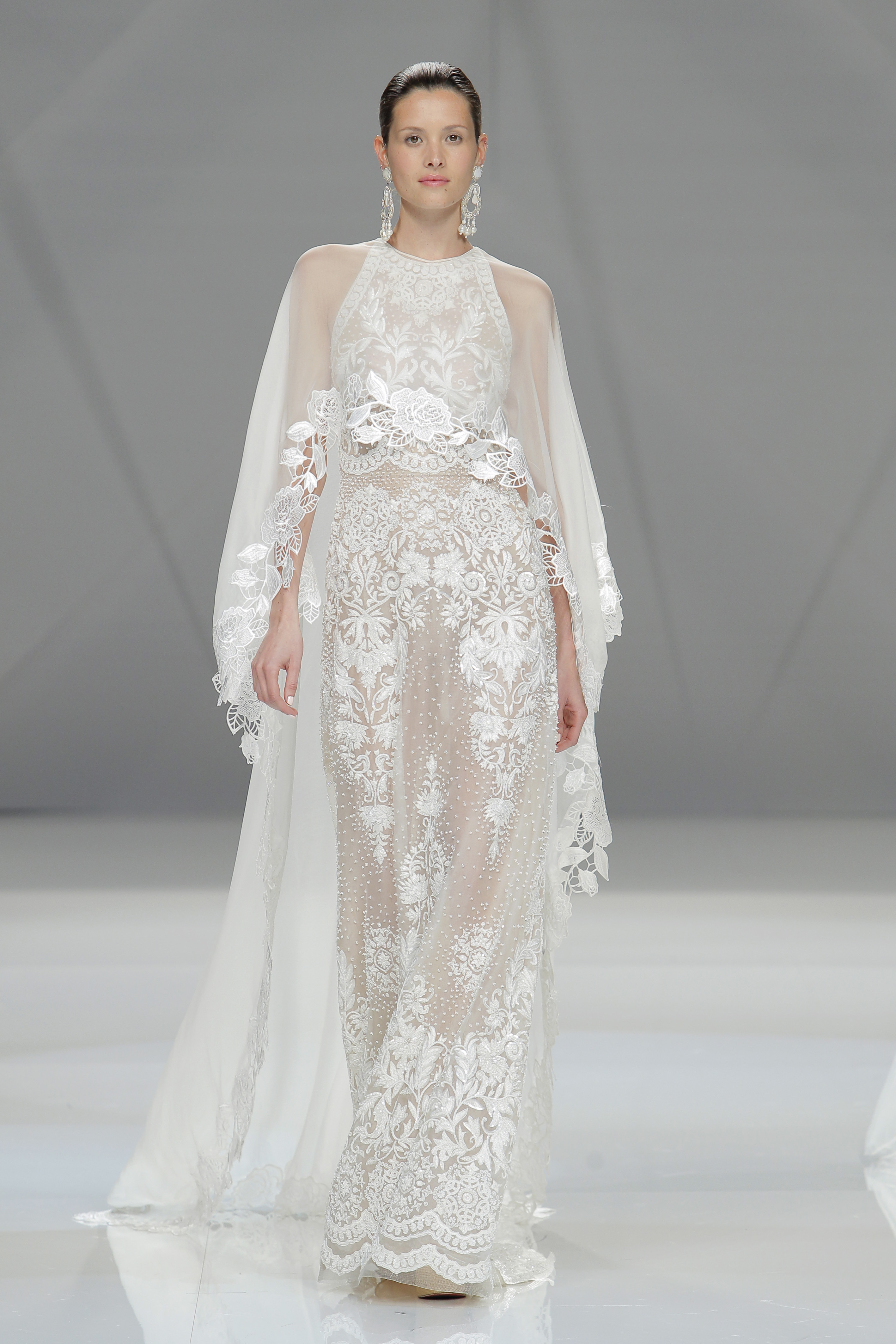 A look by Naeem Khan at Barcelona Bridal Fashion week.