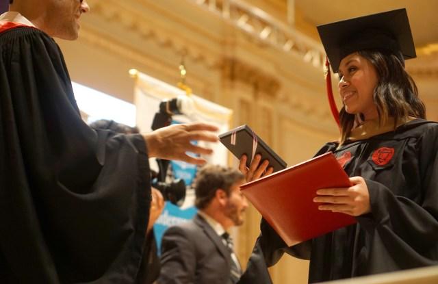 The scene at LIM College graduation.