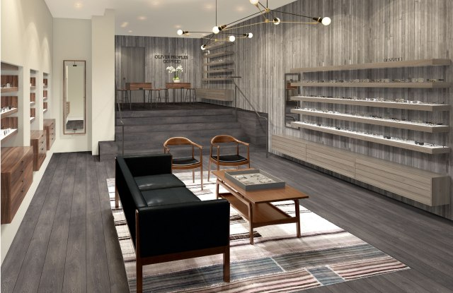 A rendering of Oliver Peoples' East Hampton store.