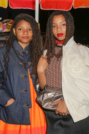 Chloe Bailey and Halle Bailey both in Opening Ceremony.