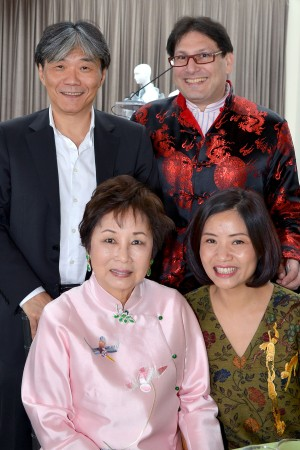 Clockwise from top left, Jack Tsao, China Institute's chairman James Heimowitz, Guo Pei and China Institute trustee Sophie Sheng.