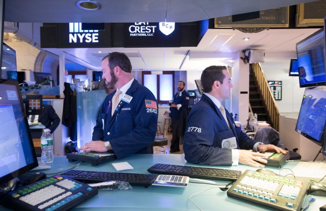 New York Stock Exchange traders.