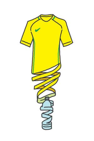 An image of a Nike recycled polyester Jersey.