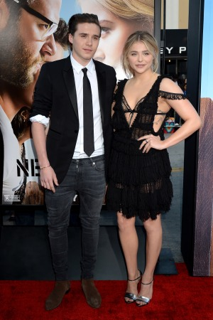 Brooklyn Beckham and Chloë Grace Moretz at the Neighbors 2 premiere.