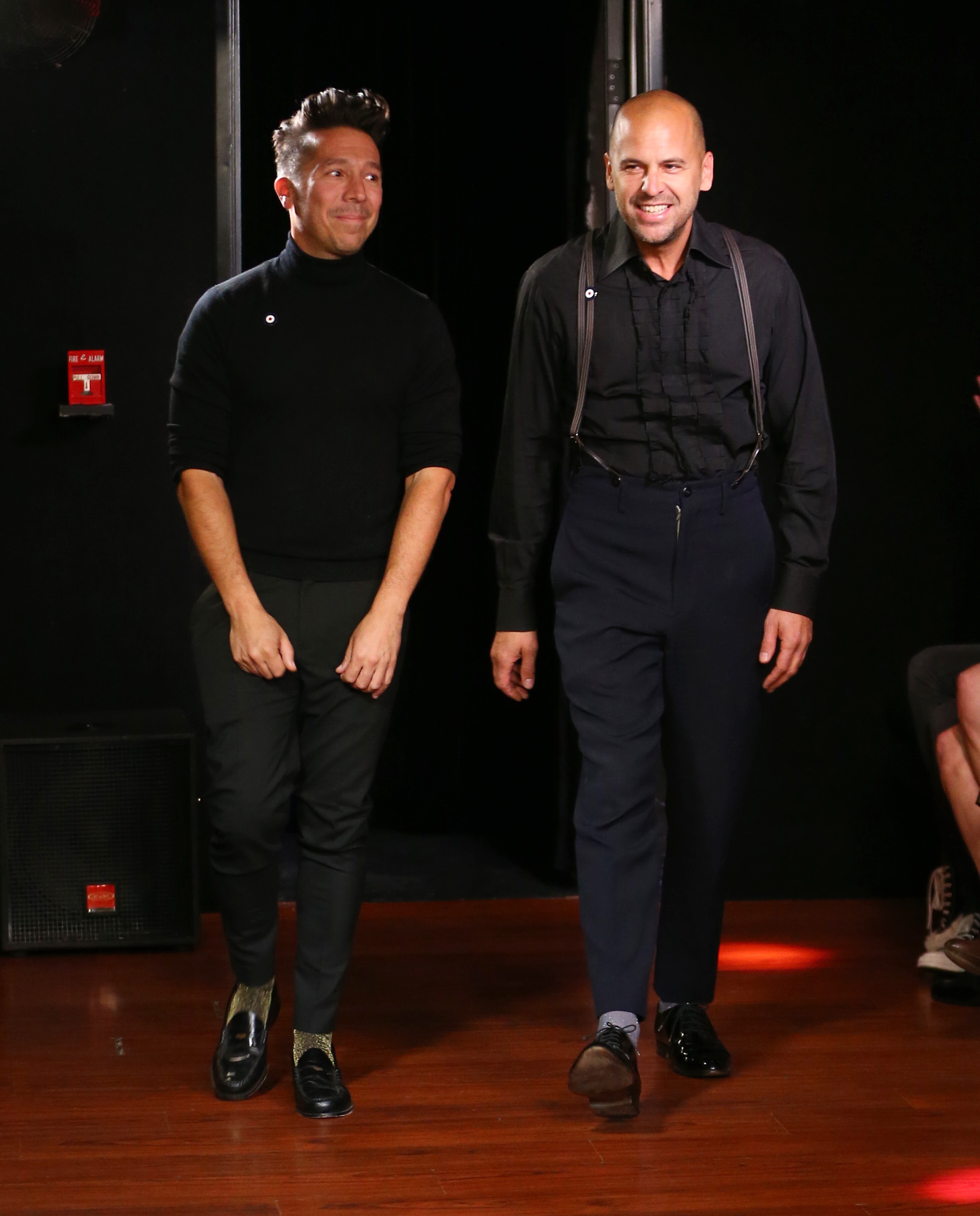 Brian Wolk and Claude Morais  at their resort 2017 show.