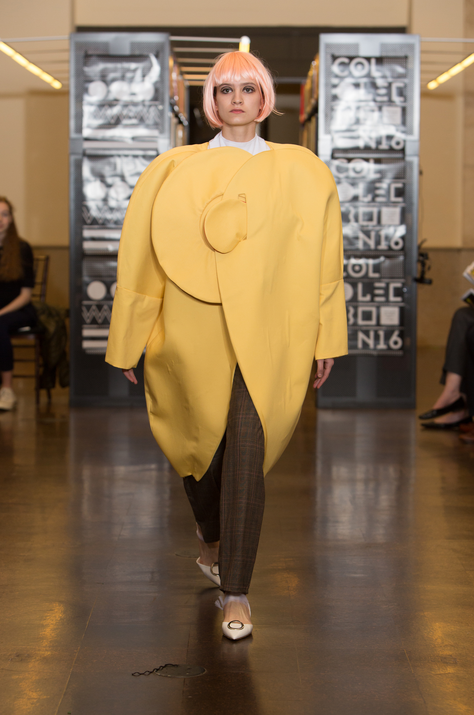 A look by Sasha Gregg, at the Rhode Island School of Design's 2016 Collection show.