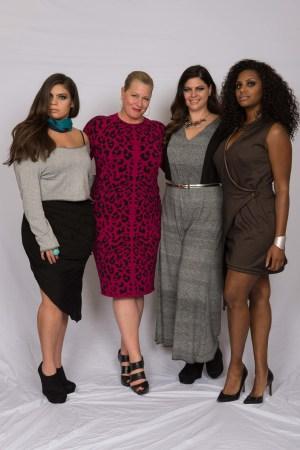 Supermodel Emme at the Syracuse University Fashion Without Limits presentation.