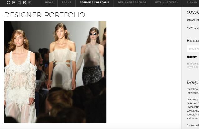 Ordre's website
