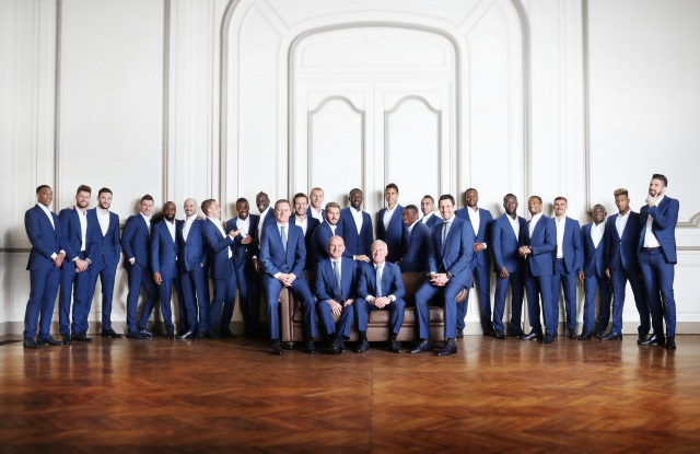 Francesco Smalto has designed official suits for the French soccer team