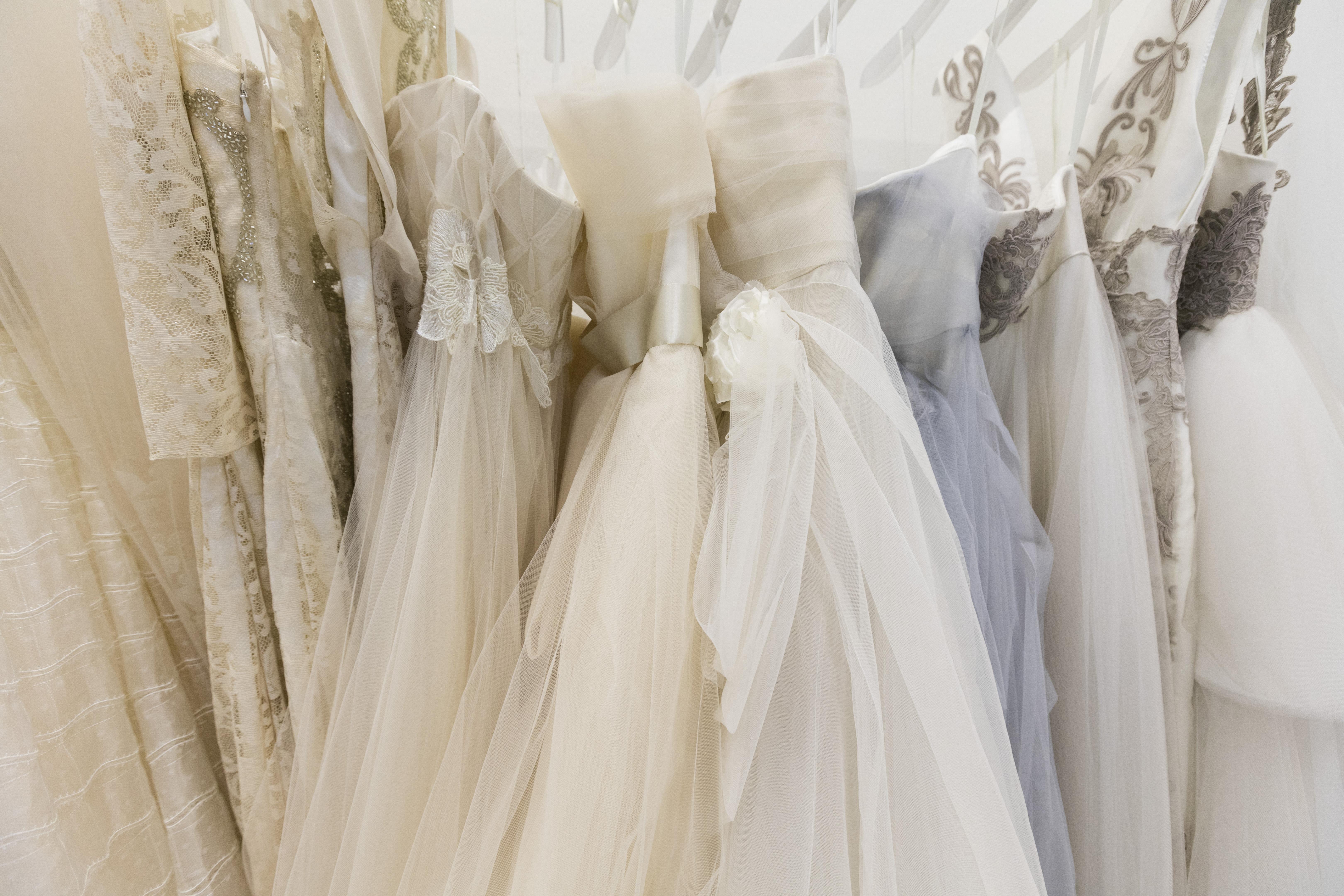 Inside the wedding and ceremony wear trade fair Si Sposaitalia Collezioni at Fieramilanocity in Milan.