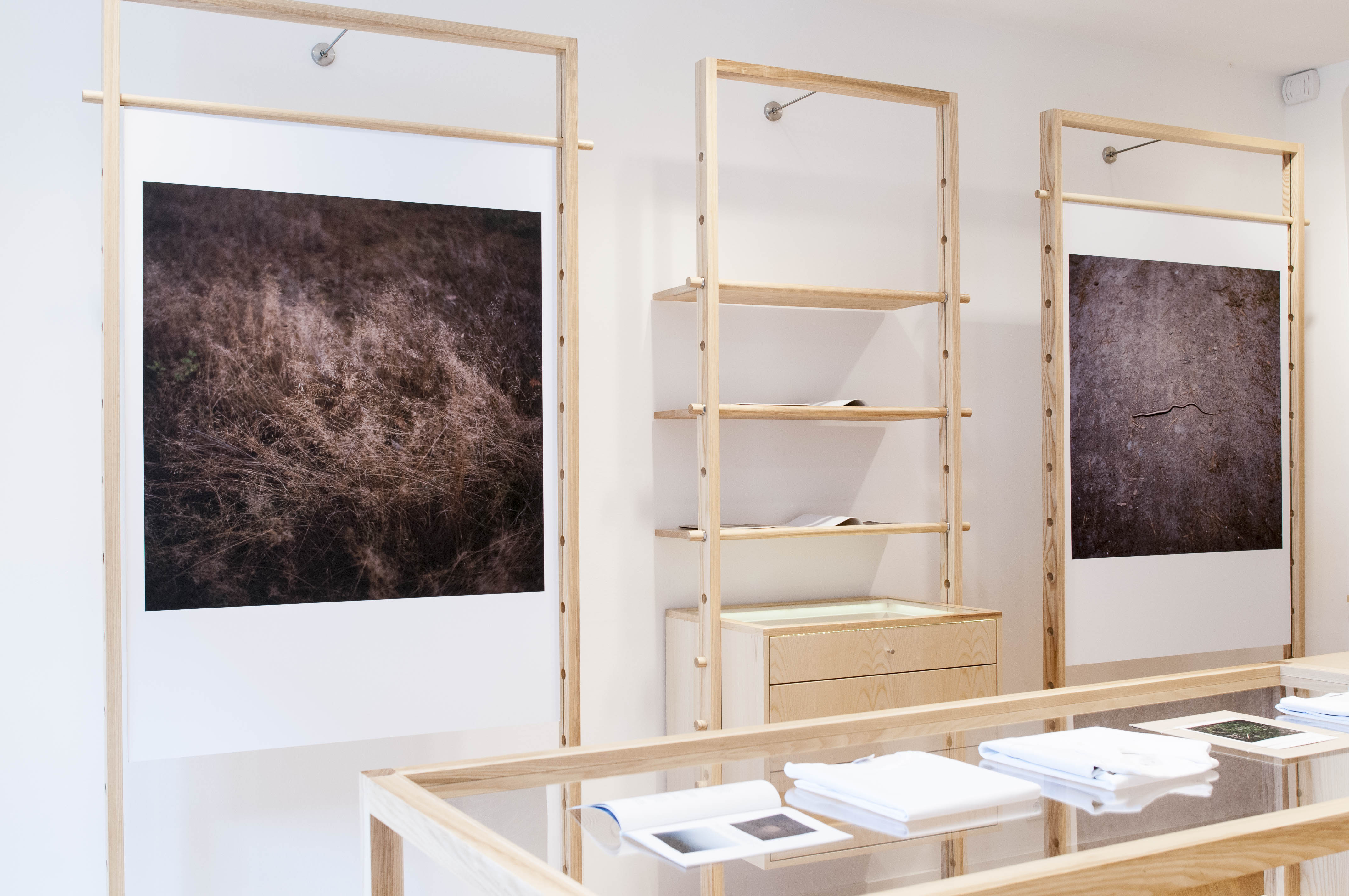 The Anne Schwalb exhibit at Sunspel's new Berlin store