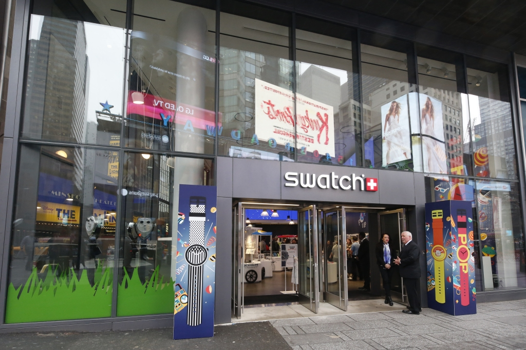 The Swatch store in Times Square.