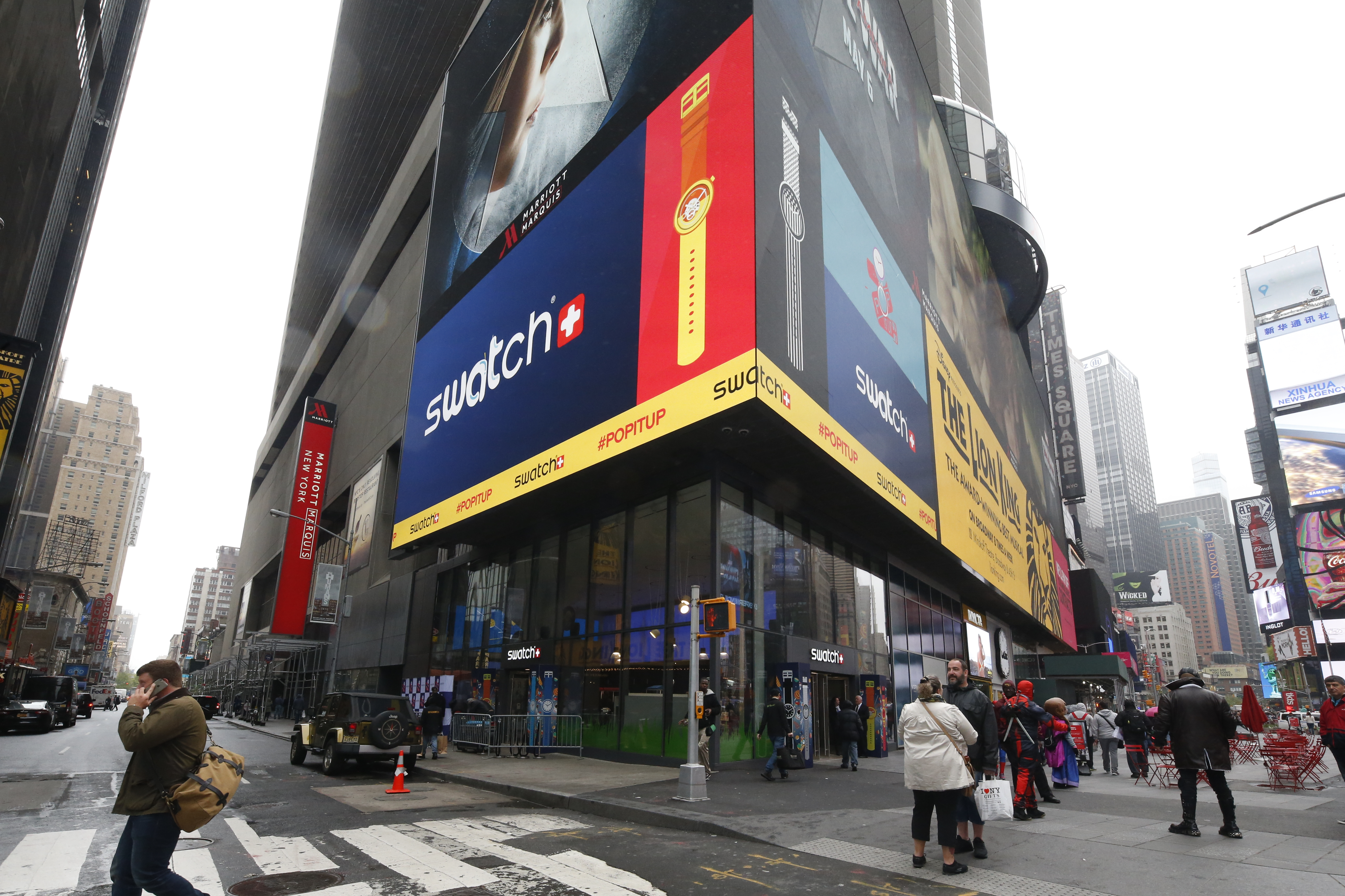 The Swatch store in Times Square