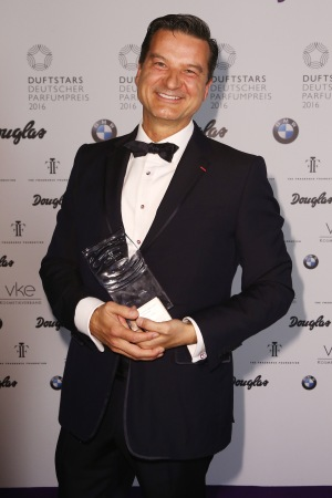 Guerlain perfumer Thierry Wasser received the Duftstars Lifetime Achievement Award.