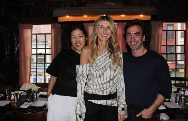 Laura Kim, Sarah Rutson and Fernando Garcia at Tiny's.