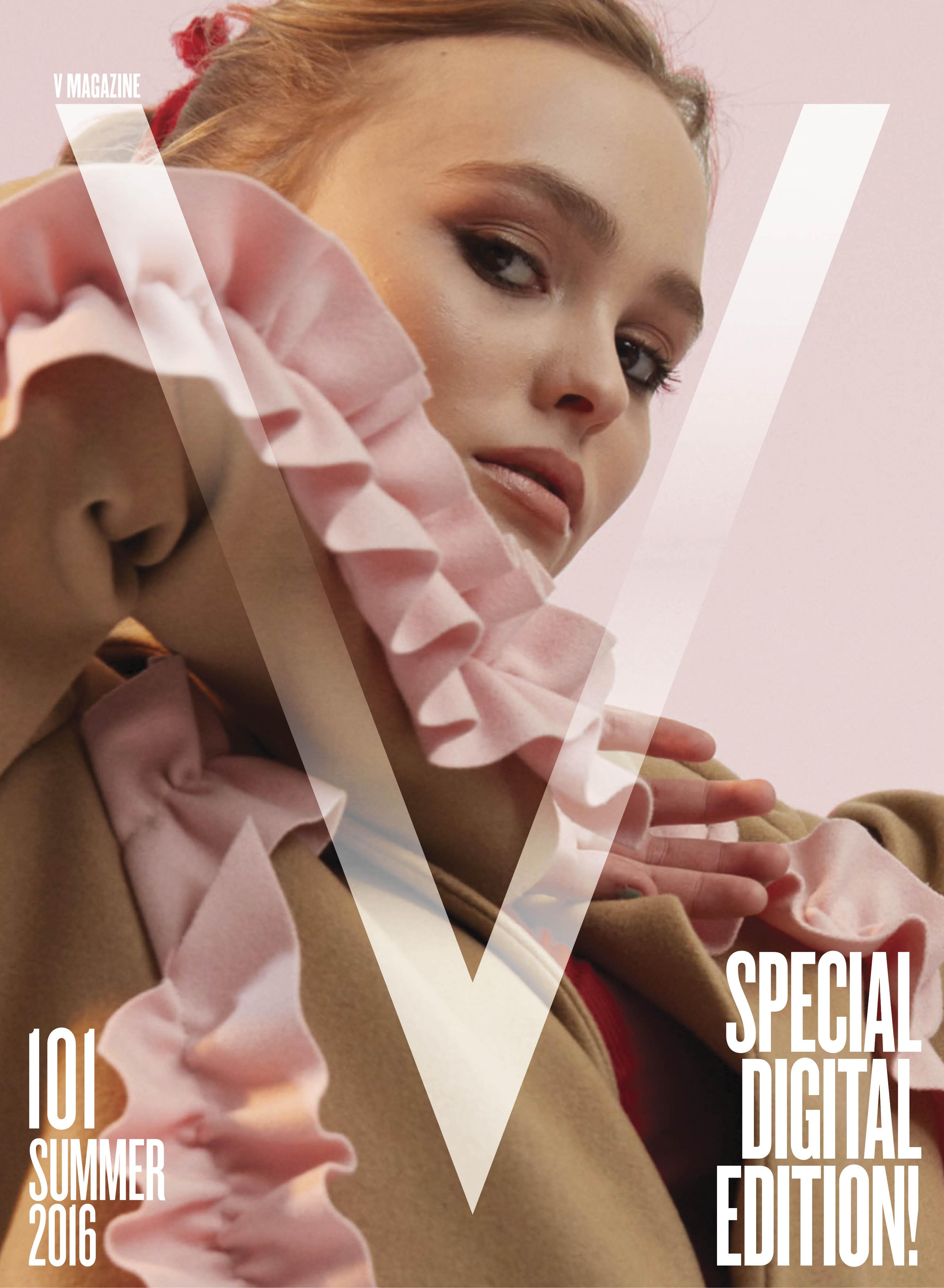 V's Lily-Rose Depp digital cover.