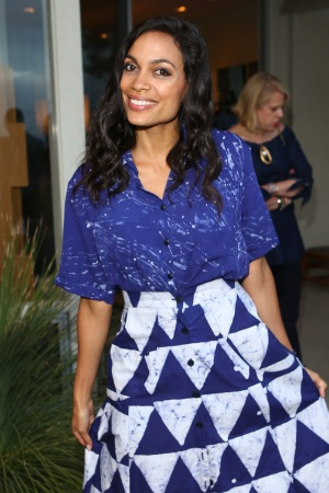 Rosario Dawson at Yoox and Rosario Dawson's Studio 189 fashion label party