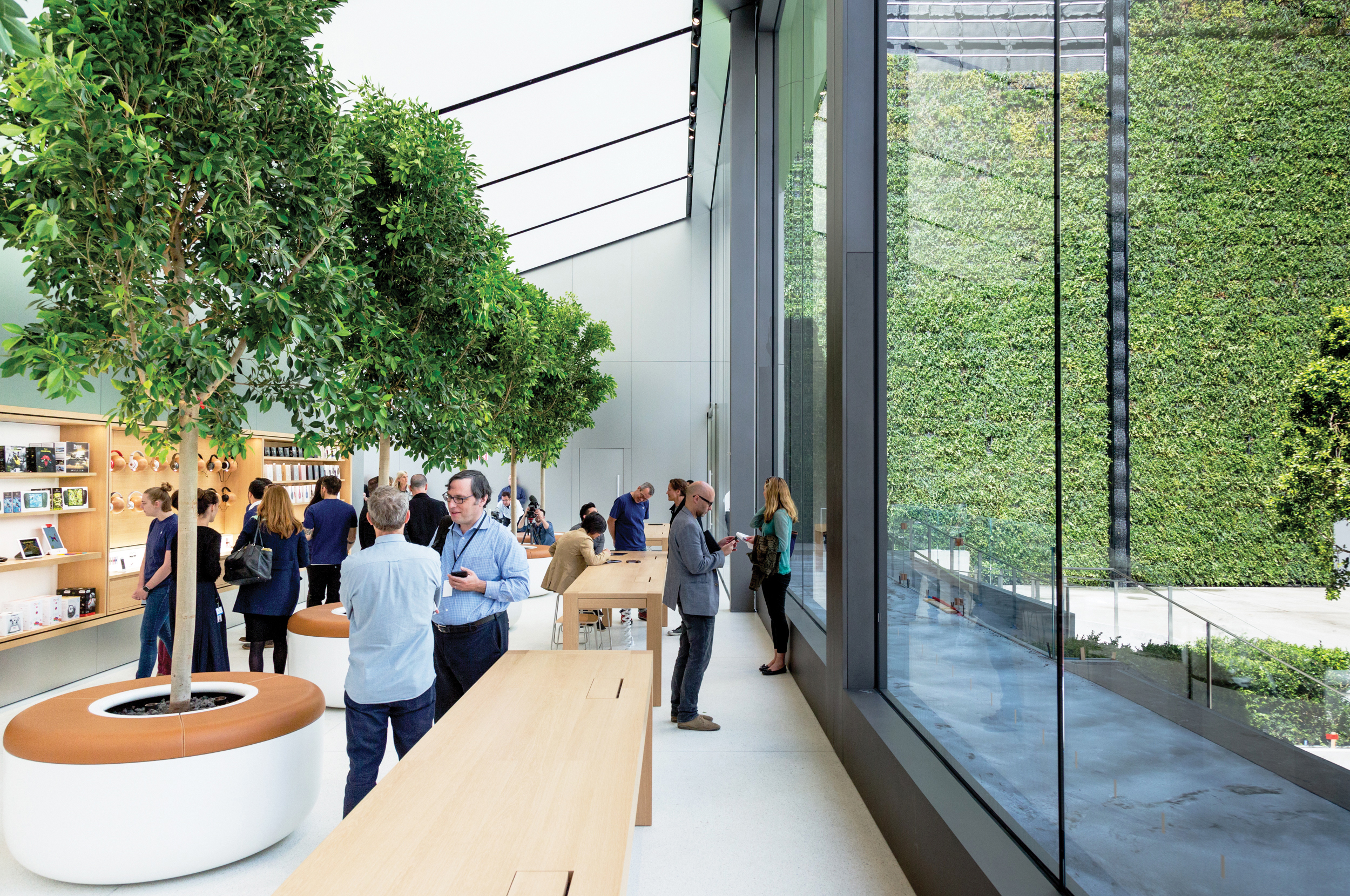 The Apple store in San Francisco.