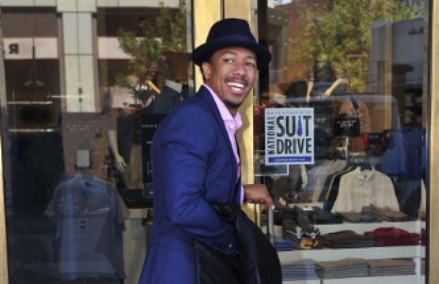 Nick Cannon is supporting the Men's Wearhouse suit drive.