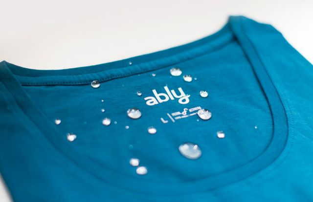 Ably's anti-absorbent shirt.