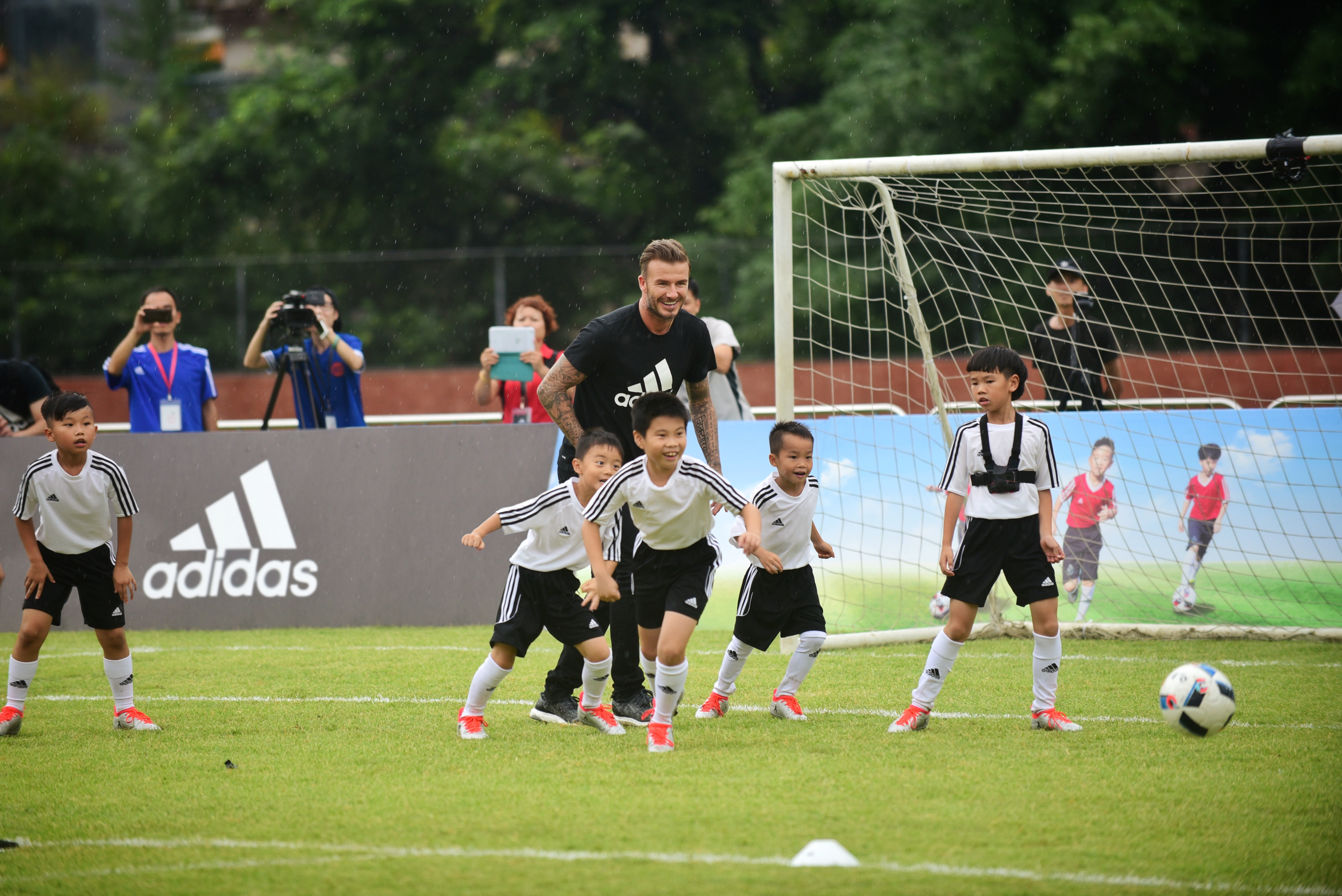 David Beckham is kicking it with Adidas in China