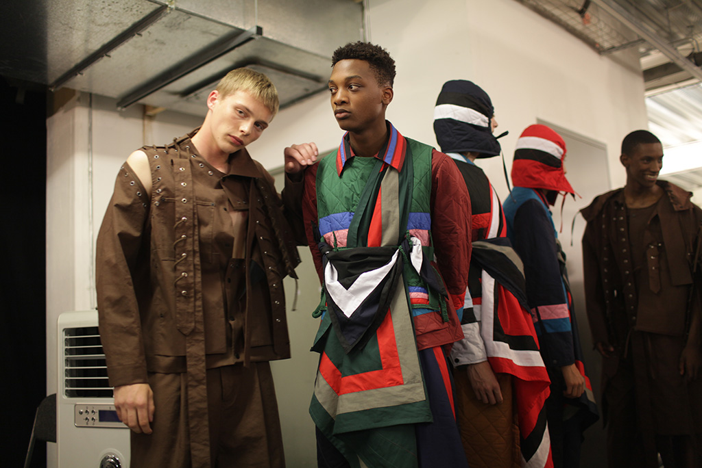 Backstage at Craig Green Men's Spring 2017