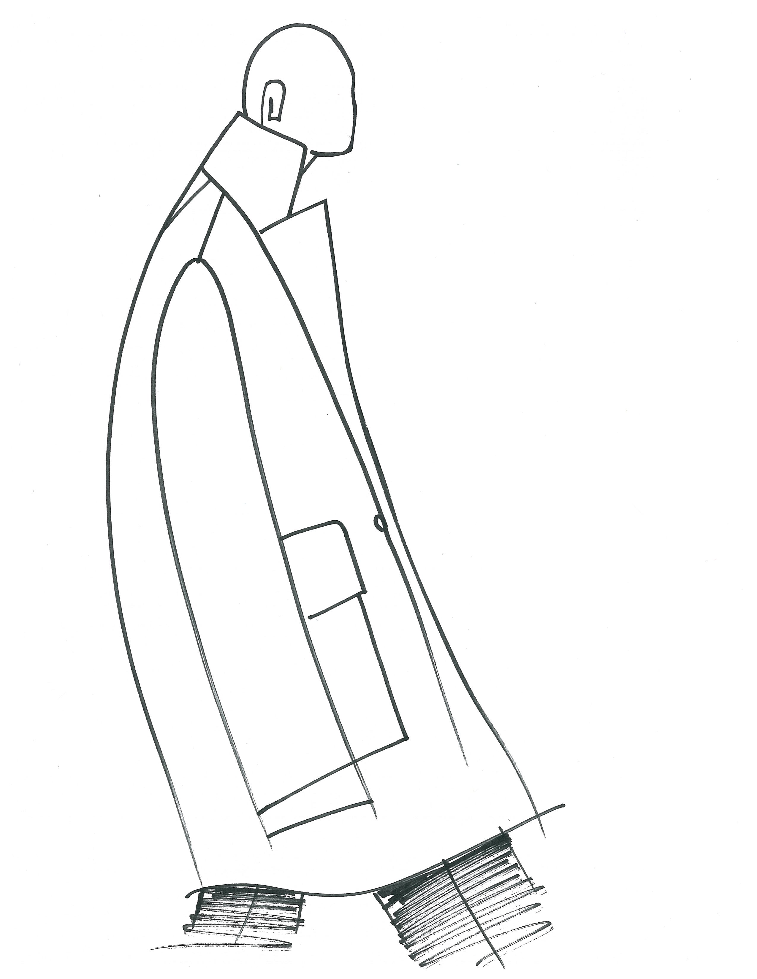 A sketch from the Cedric Charlier men's collection.
