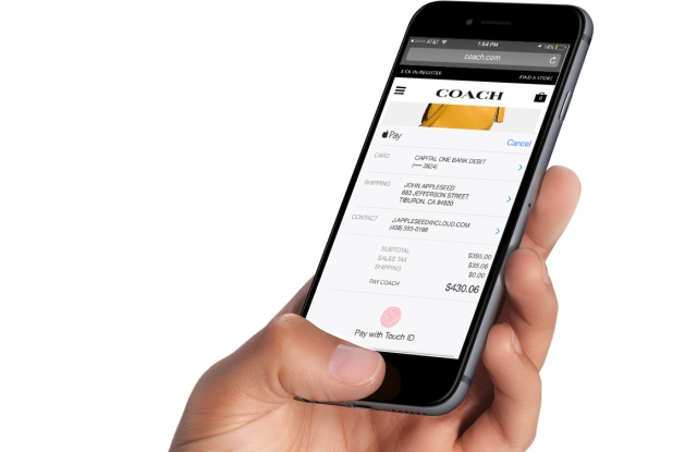 Coach will be one of the first retailers to adopt Apple Pay for web.