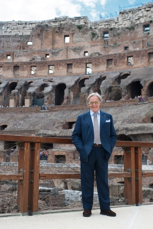 Diego Della Valle at the Colosseum restoration