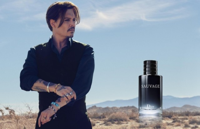 Johnny Depp in the Dior Sauvage campaign.
