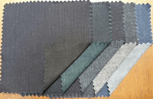 Fabrics from the Denim North America R3 Denim line.